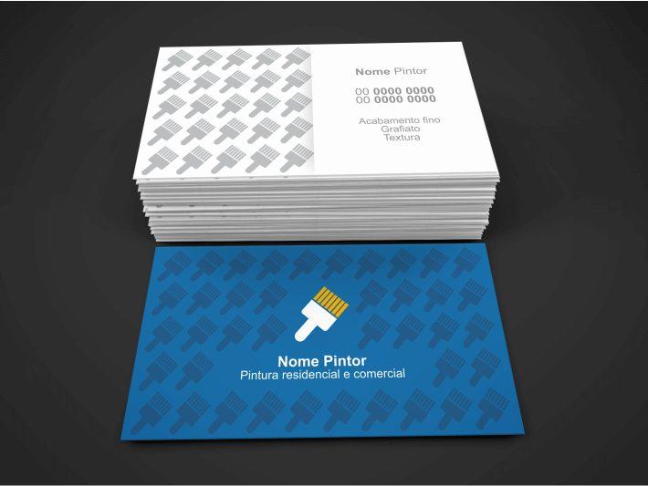 Se você é pintor residencial, esse cartão de visita de pintor é uma ótima opção. Deixe alguns cartões em lojas de tintas e materiais para construção. Antes de imprimir esse cartão de pintor, é necessário edita-lo com seus dados no Corel Draw.