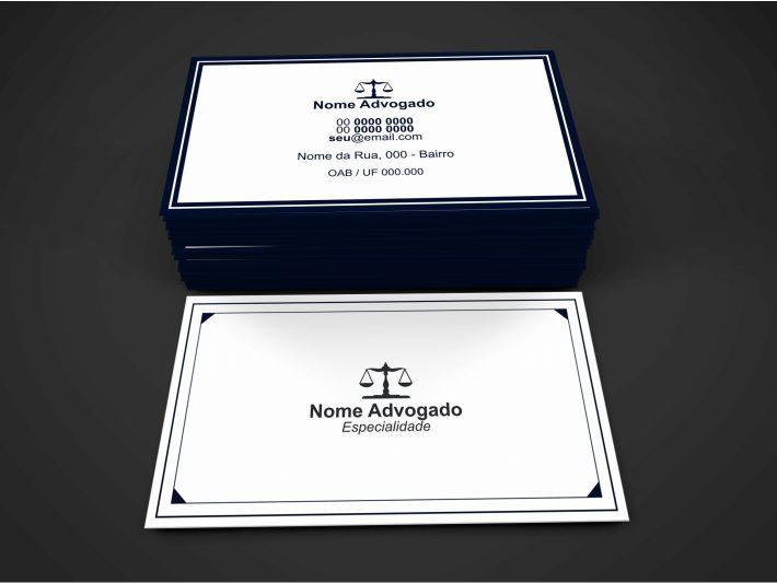 Cartão de visita Advogado, totalmente personalizável para você se divulgar!