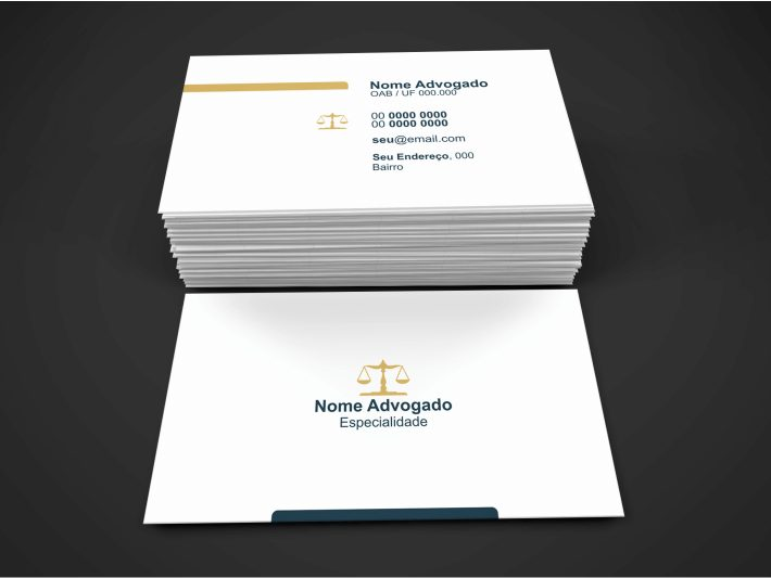 Cartão de visita para Advogado