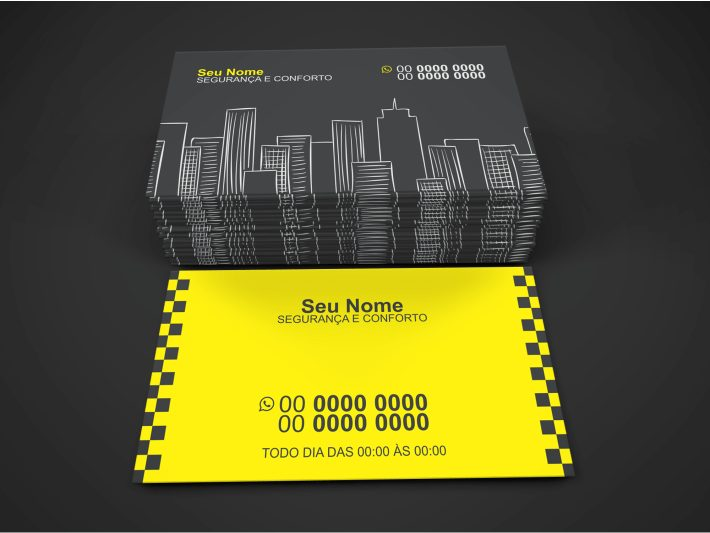cart u00e3o de visita taxista  4 modelos de cart u00f5es bonitos e profissionais