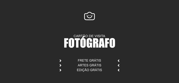 Seus serviços de fotografia precisam ser divulgados por um material impresso de qualidade. Use um desses cartões de visita.