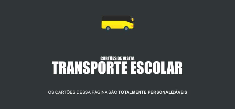 Use um desses cartões de visita para divulgar seu serviço de transporte escolar de forma profissional.