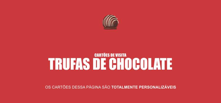 Suas trufas são ótimas, mas está faltando algo, não é?! Pode ser que esteja faltando cartões de visita das suas trufas de chocolate nas ruas.
