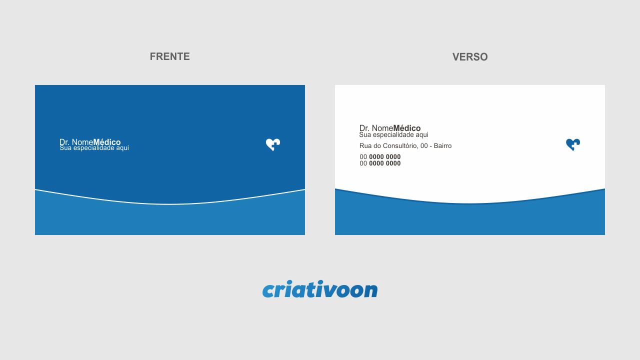 Seu consultório médico precisa de divulgação? Comece fazendo uso desse cartão de visita para médico. Um cartão de visita com um design leve e profissional.