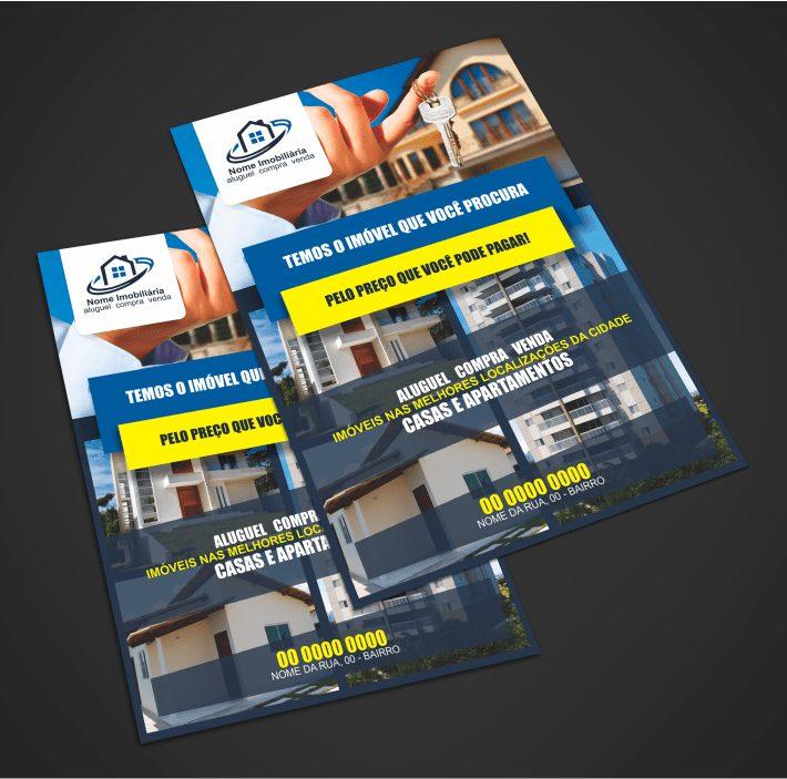 Use esse panfleto de imobiliária para divulgar os imóveis que você representa!