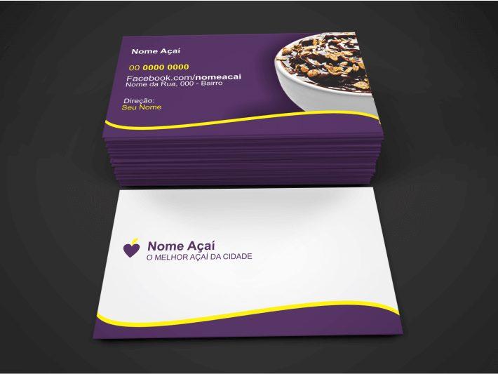 Fazer o uso desse cartão açaí é uma ótica escola! Ele é um cartão profissional, pronto para imprimir (cores CMYK), bastando só editar as informações de contato e endereço, e mandar para uma boa gráfica.