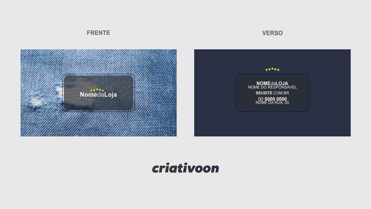 Após você editar e imprimir esse cartão de loja de roupas, você pode entregar um para todo cliente que visitar sua loja.