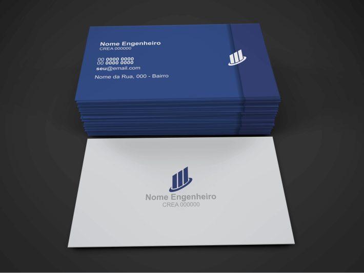 Cartão de visita engenheiro civil para você, engenheiro, entregar quando for fazer reunião de alguma obra / construção, seus clientes vão reconhecer seu profissionalismo! Depois de editar o cartão, é só mandar imprimir em uma gráfica de qualidade.