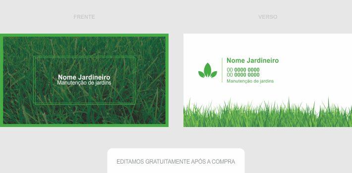 Fazendo uso desse cartão de visita de jardineiro, seus serviços de jardinagem vão aumentar consideravelmente. Edite com seus dados de contato e mande imprimir o cartão em uma boa gráfica.