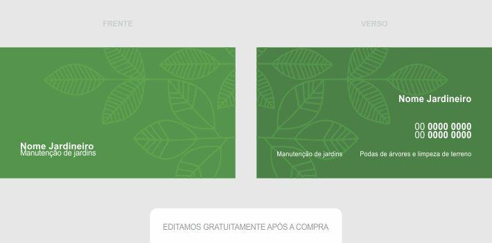 Você, bom jardineiro, não precisa pagar um designer gráfico para criar um bom cartão de visita para você. Esse cartão de visita jardineiro é acessível e profissional, precisando só editar seus dados de contato antes de imprimir e distribuir.
