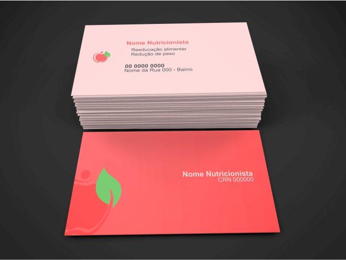 Extremamente Cartão de Visita Nutricionista (3 Modelos de Cartões Bonitos) UN02