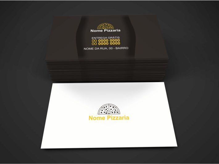 Com certeza sua pizzaria é bacana, com super pizzas gostosas, mas, a sua divulgação também é? Faça uso desse cartão de visita para pizzaria (Corel Draw) e comece divulgar sua pizzaria pela cidade. A arte desse cartão é 9 x 5 centímetros.