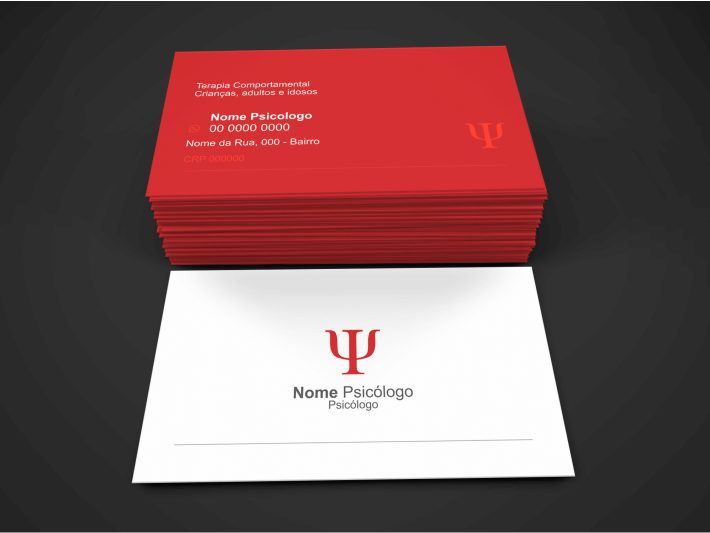 Use esse cartão de visita psicologia para você que trabalha como terapia comportamental em crianças, adultos e idosos. Esse cartão psicologia é editável e tem o tamanho de 9 x 5 centímetros. Faça a impressão em uma boa gráfica!