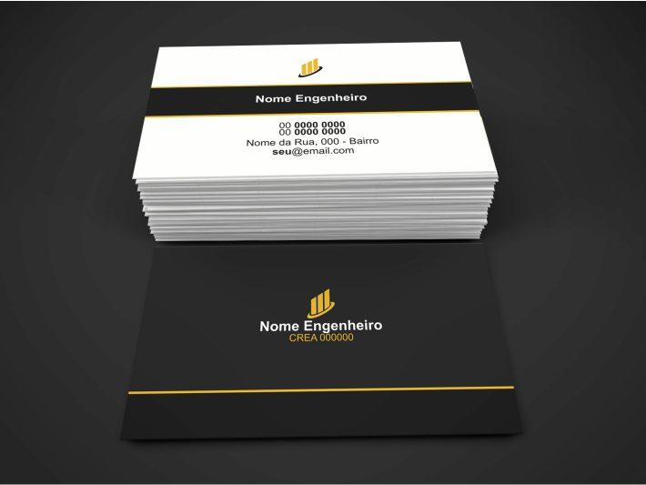 Esse cartão engenheiro civil é profissional e serve para você entregar em construtoras e para profissionais relacionados ao seus serviços de engenharia, para criar ou fortalecer sua rede de contatos dentro das obras.
