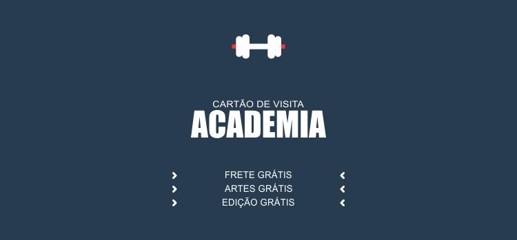 Sua academia tem os melhores aparelhos de musculação e ginastica, tem os melhores educadores físicos, mas falta agora ter o melhor marketing. Comece agora mesmo usando um desses dois modelos de cartões para academia.