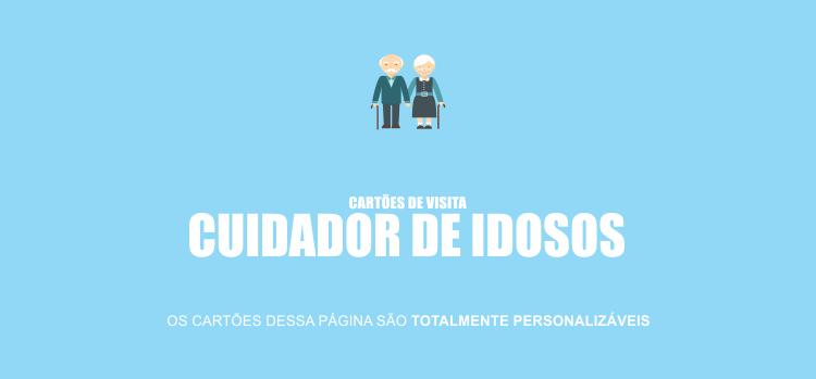 Use um desses 2 modelos de cartões de visita para cuidador de idosos e profissionalize ainda mais o seu serviço, pois os cartões são profissionais.