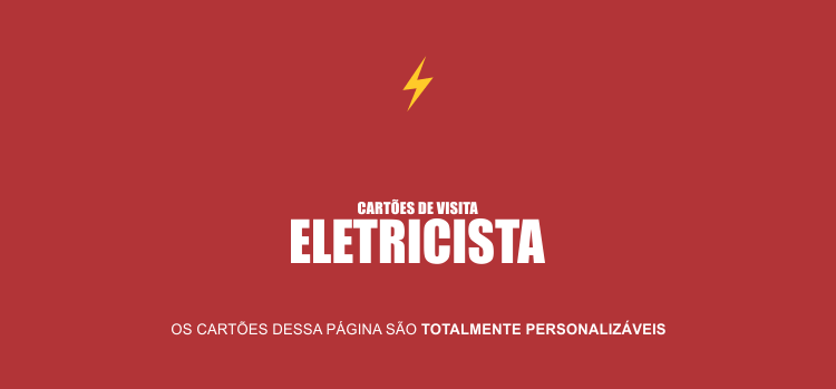 Divulgue seus serviços de eletricista fazendo uso de um dos 2 modelos de cartões de visita que temos aqui. São editáveis e profissionais!
