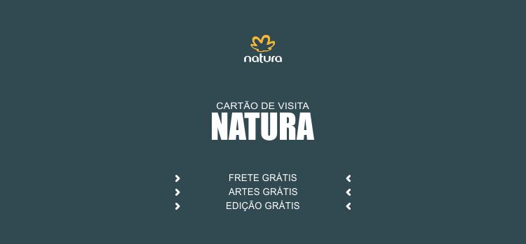 Divulgue os produtos da Natura usando um desses modelos de cartões Natura, que são editáveis (Corel Draw).