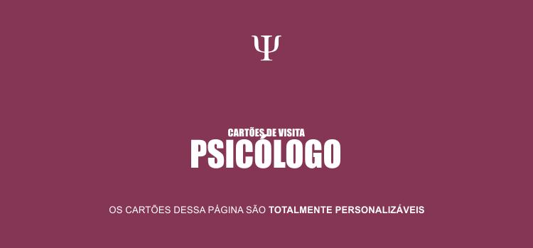 Use um desses 3 cartões de visita de Psicólogos.