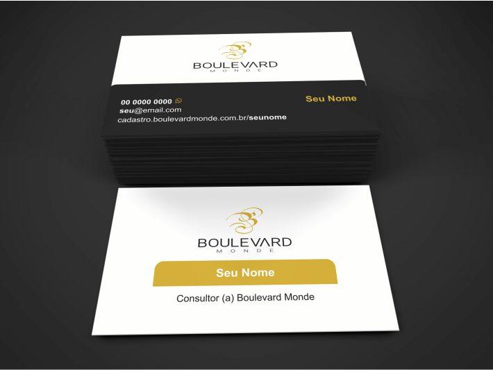 Não pagaue um designer gráfico para criar seu cartão da Boulevard Monde, nós já criamos pra você, ué. Use esse incrível cartão e divulgue-se com profissionalismo!