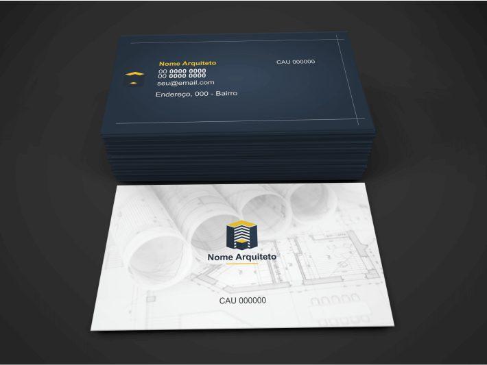 O arquiteto é o profissional que caminha na linha entre a arte e a praticidade. Então, seu cartão não poderia ser diferente. Esse cartão de arquiteto é simples e objetivo, contendo os dados de contato e uma parte para inserir o endereço do seu escritório de arquitetura. Basta editar e mandar imprimir!
