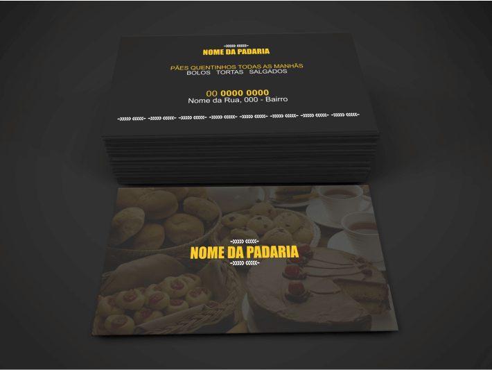 Com um design profissional, esse cartão de padaria será útil para fazer o marketing da sua padaria. Um cartão bonito e editável. Após editar o cartão de visita no Corel Draw, mande para a gráfica e distribua para seus clientes.