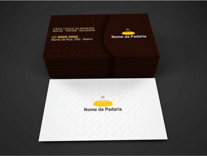 Um cartão de visita padaria surge com a finalidade realmente de divulgar o estabelecimento. Faça uso desse cartão de padaria, passando o número de contato para as pessoas pedirem aquele maravilho pão. O cartão de padaria é editável pelo Corel Draw e você pode imprimir em qualquer gráfica.