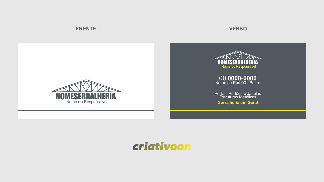 Você não precisa pagar um designer gráfico, muitas vezes caro, para criar o seu cartão de visita de serralheria, esse cartão já está criado e você pode simplesmente edita-lo.