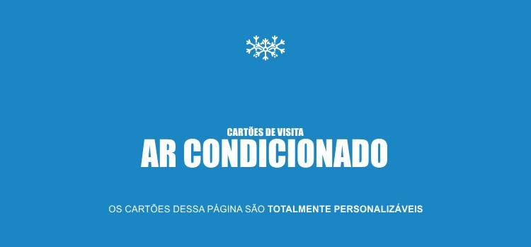 Confira os 2 modelos de cartões de visita para instalador de ar condicionado. Os cartões aqui são profissionais e atraentes!