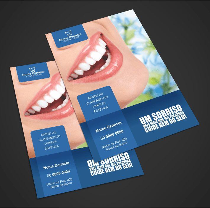 Elaboramos uma solução criativa para a divulgação do seu consultório odontológico: um flyer de dentista editável e profissional, para você divulgar seu nome no mercado e anunciar seus serviços disponíveis à população. É a melhor publicidade para os seus clientes, sabe porquê? Geralmente as pessoas saem de casa procurando clínicas pessoalmente. Esse flyer dentista adianta esse processo para elas!