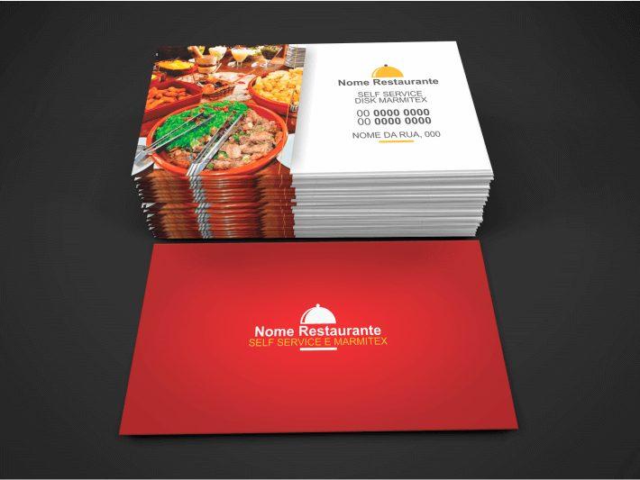 Cart o de visita restaurante e marmitex 4 modelos de cart es for Modelos de restaurantes