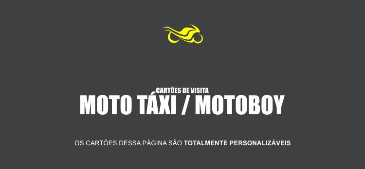 Cartão De Visita Moto Táxi E Motoboy 5 Modelos De Cartões Bonitos
