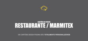 Use um desses 4 modelos de cartões de visita para divulgar seu negócio restaurante e disk marmitex.
