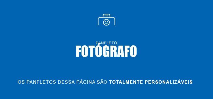 panfletos para fotógrafo