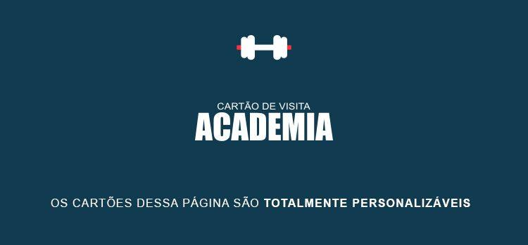 Cartão de Visita Academia