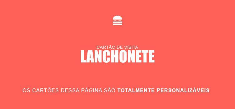 Cartão de Visita Lanchonete