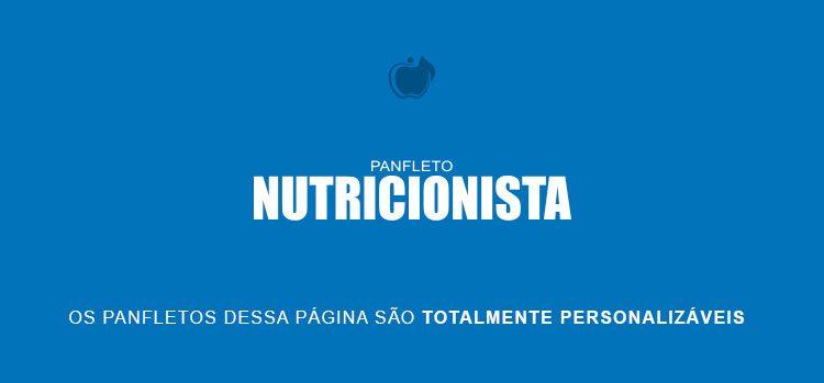 Panfletos para Nutricionista