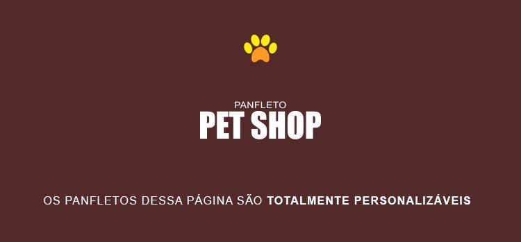 Panfleto Pet Shop