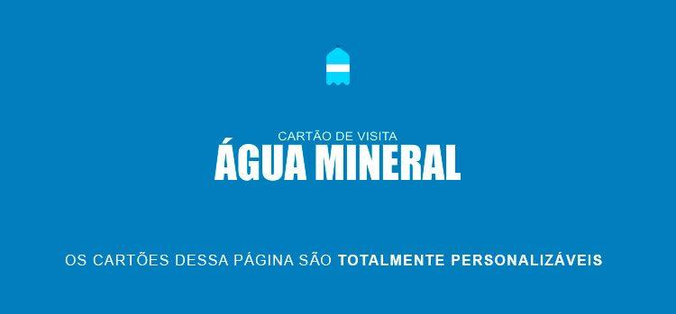 Cartão de Visita Água Mineral