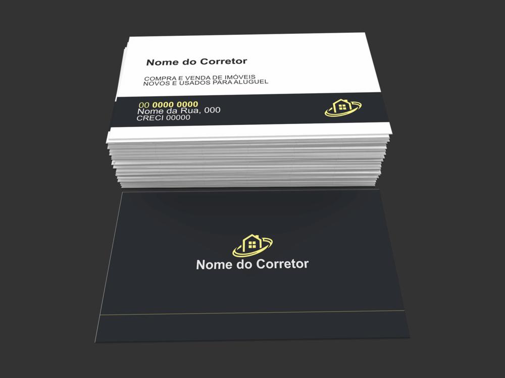 Qualquer bom corretor de imóveis, precisa de um bom cartão de visita, impresso em uma boa gráfica. Se você é um bom corretor de representa vários imóveis, faça uso desse cartão de visita.