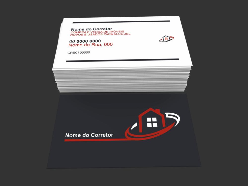 Esse cartão de corretor de imóveis é minimalista na frente e no verso. É uma boa escolha para o corretor de imóveis organizado e profissional.
