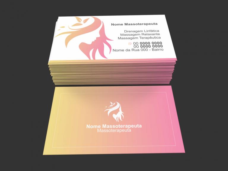 Use esse cartão de visita massoterapeuta para divulgar seus serviços de massagem relaxante, massagem com pedras quentes, Shiatsu, entre outros. É só editar e mandar imprimir!