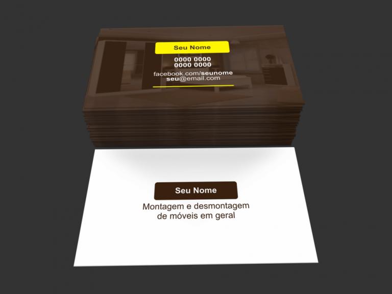 Use esse cartão de visita montador de móveis para divulgar seus serviços de montagem e desmontagem de móveis. Ele é editável. Você só precisa editar e mandar imprimir!