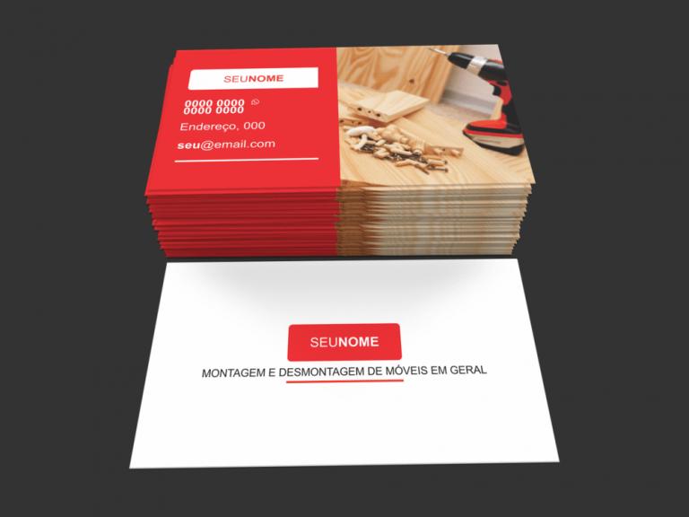 Uma boa estratégia para você usar com esse cartão montador de móveis, é deixar pedir para os vendedores de móveis deixem o seu cartão com os clientes que comprarem móveis novos que precisarão serem montados. Boa sorte e sucesso!