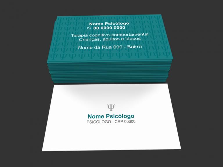 Cartão psicologia para divulgar sua clínica de psicólogo