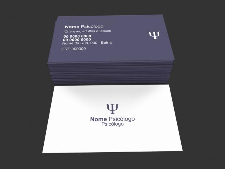 Use esse cartão Psicólogo para divulgar sua clínica de psicologia!