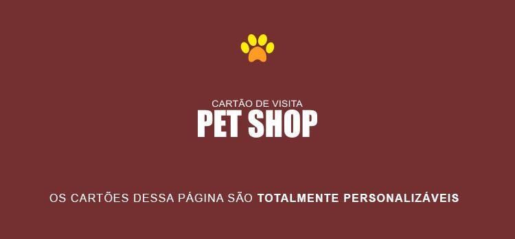 Cartão de visita Pet Shop