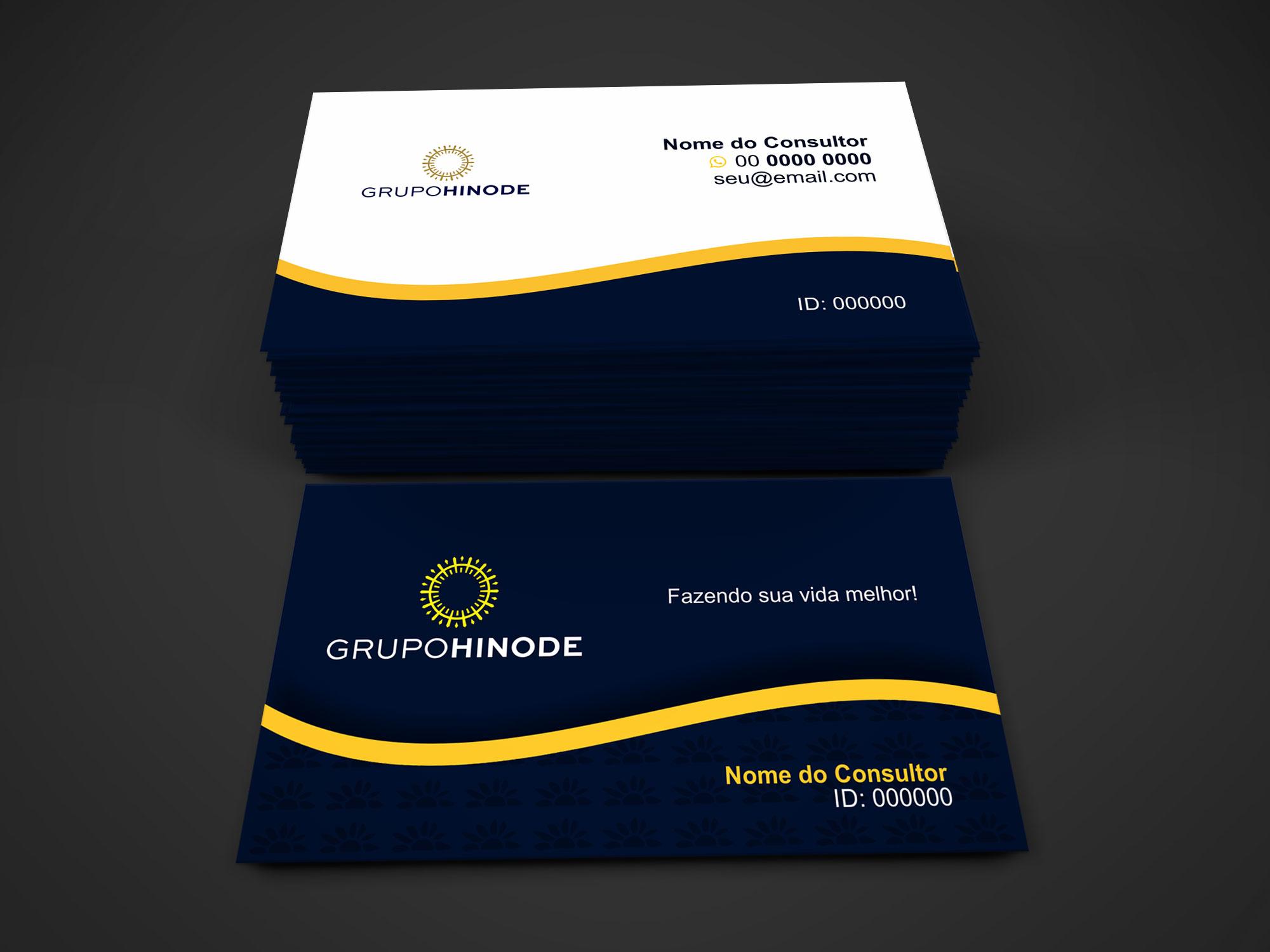 Faça uso do cartão de visita da Hinode agora, edite e mande imprimir em uma gráfica de qualidade.