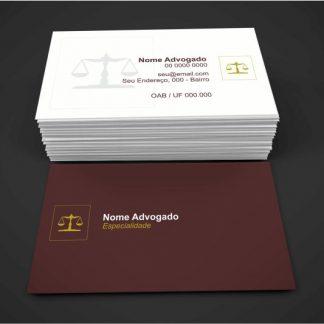 Cartão de Visita Advogado - Modelo 05