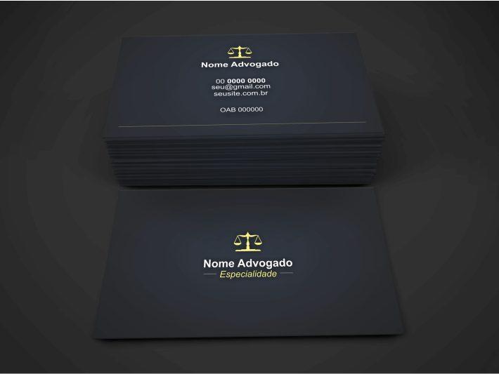 Cartão de Visita Advogado - Modelo 02